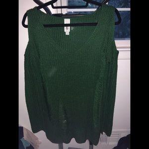 Nasty Gal distressed sweater!!
